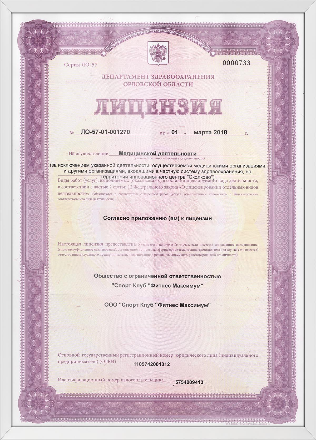 Лицензии 3